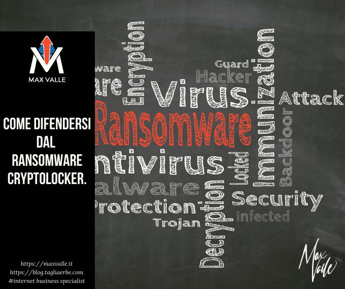 Come difendersi dal Ransomware Cryptolocker