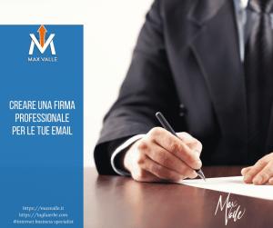 creare firma le tue email professionale
