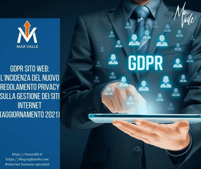 GDPR SITO WEB: l'incidenza del nuovo Regolamento Privacy sulla gestione dei siti internet (aggiornamento 2021)