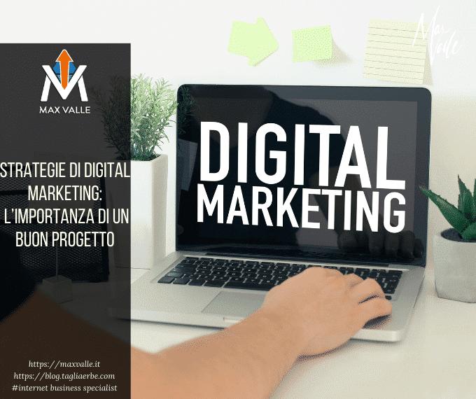 Strategie di digital marketing: l'importanza di un buon progetto